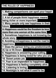 regulile fericirii