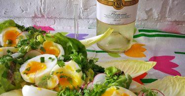 salată de ouă